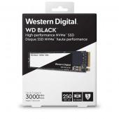 WD Black NVMe SSD 250GB, NVMe M.2 2280,R3000/W1600