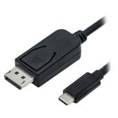Roline USB3.1 USB-C - DisplayPort kabel, M/M, 2m length, (compatible with NUCs with DP 1.2 via USB-C