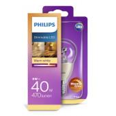 Philips LED žarulja, E14, P48, topla, 6W, dim