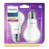 Philips LED žarulja, E27, A60, topla, 8W, mat. 2x