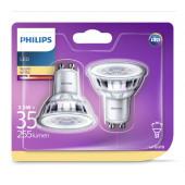 Philips LED žarulja, GU10, topla, 3.5W, 36 st., 2x