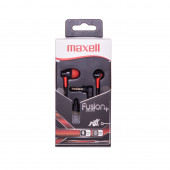 Maxell Fusion slušalice, crno-crvene