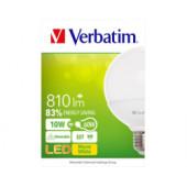Verbatim LED žarulja E27, 10W, 810lm, 2700K, dimabilna, Globe