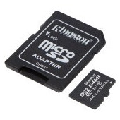 Kingston 64GB microSDHC Endurance Flash Memory Card, Class 10