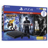 Sony PlayStation PS4 1TB Slim + Ratchet and Clank + The Last of Us + Uncharted 4