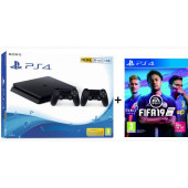 Igraća konzola Sony PlayStation PS4 1TB Slim F chassis + DS4 V2 kontroler + Fifa 19