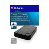 """Verbatim 3.5"""" Store'n Save 4TB HDD, USB3.0, crni"""