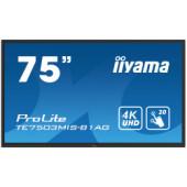 "IIYAMA 75"" ProLite TE7503MIS-B1AG, 16:9 4K UHD (3840×2160) IPS LED, 24/7, Interactive 20pt Infrared Touchscreen, 6ms, VG"