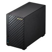 ASUSTOR Tower - 2 bay NAS, New Marvell ARMADA-385 Dual Core, 512MB DDR3, GbE x1, USB 3.1 Gen-1, WOL,