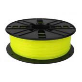 Gembird PLA filament for 3D printer, Fluorescent Yellow, 1.75 mm, 1 kg