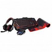 SET MEEPO KM-401 (tipkovnica, slušalice, miš, podloga), Rampage