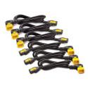 APC Power Cord Kit (6 ea), Locking, C13 TO C14 (90 Degree), 0.6m