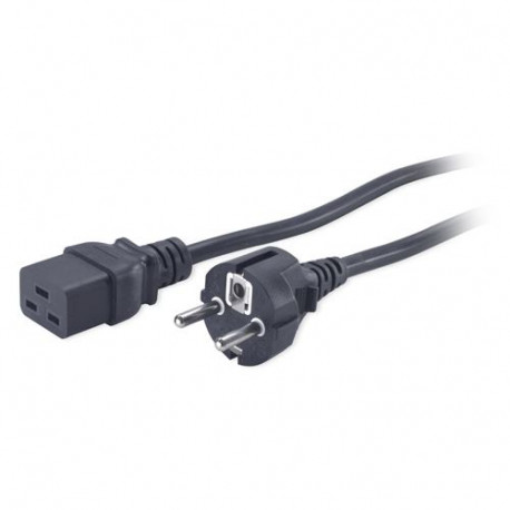 APC Power Cord, C19 to CEE 7 Schuko, 2.5m