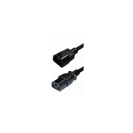 Transmedia IEC 60320 C14 plug-IEC 60320 C13 jack 2m