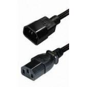 Transmedia IEC 60320 C14 plug-IEC 60320 C13 jack 3m