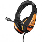 Canyon Gaming headset with 7.1 USB connector, adjustable volume control, orange LED backlight, cable