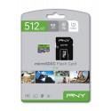 Memorijska kartica PNY MicroSDXC Elite, 100MB/s, 512GB, klasa brzine V10, s adapterom
