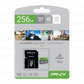 Memorijska kartica PNY MicroSDXC Elite, 100MB/s, 256GB, klasa brzine V10, s adapterom