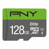Memorijska kartica PNY MicroSDXC Elite, 100MB/s, 128GB, klasa brzine V10, s adapterom