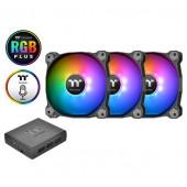 Hladnjak za kućište Thermaltake Pure Plus 14 RGB (3 komada + HUB)