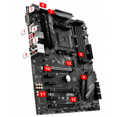 MSI X470 GAMING PLUS MAX, D4, U3.1, m2, AM4