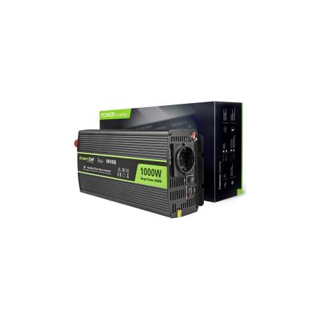 Green Cell strujni inverter 12V na 220V, 1000W/2000W (INV08)
