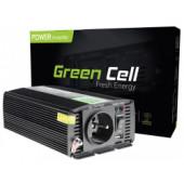 Green Cell strujni inverter 12V na 230V, 300W/600W Pure Sine Wawe (INV05DE)