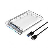 "Orico vanjsko kućište 2.5"" SATA HDD/SSD, up to 9.5 mm, tool free, USB3.1 Gen2 Type-C (S-ATA3 podržano) prozirno kućište"