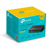 Switch TP-Link LS1005G, 5-Port 10/100/1000Mbps Desktop Switch, Auto-Negotiation RJ45 port, supportin
