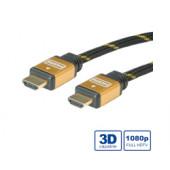 Roline GOLD HDMI kabel sa mrežom, HDMI M - HDMI M, 15m