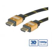 Roline GOLD HDMI kabel sa mrežom, HDMI M - HDMI M, 3.0m