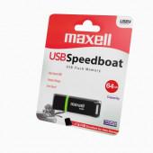 Maxell USB Speedboat 3.1, 64GB, crni