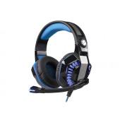 Slušalice Rampage Rivia G20 s mikrofonom i LED osvjetljenjem, gaming crno - plave