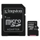 Kingston 64GB micSDXC Canvas Select Plus 100R A1 C10 Card + ADP EAN: 740617298697