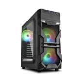Sharkoon VG7-W RGB Midi Tower ATX kućište, bez napajanja, prozirna prednja/bočna stranica, crno