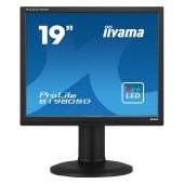 """IIYAMA Monitor 19"""" 1280x1024, 13cm Height Adj. Stand, Pivot, Speakers, VGA, DVI, 250cd/m², 5ms"""
