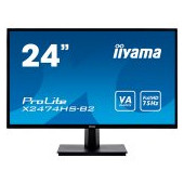 "IIYAMA Monitor Prolite, 24"" 1920x1080, VA panel, 250cd/m², VGA, DisplayPort, HDMI, 4ms, Speakers (23"