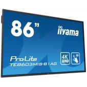 "IIYAMA 86"" ProLite TE8603MIS-B1AG, 16:9 4K UHD (3840×2160) IPS LED, 24/7, Interactive 20pt Infrared Touchscreen, 6ms, VG"