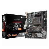 MSI Main Board Desktop B450 (SAM4, 2xDDR4, 1xPCI-Ex16, 1xPCI-Ex1,6 x USB3.2, 6 x USB2.0, 4xSATA III,