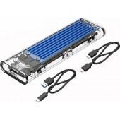 Orico vanjsko kućište NVMe M.2 SSD (10Gbps), USB3.1, plavo (ORICO TCM2-C3-BL-BP)