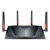 ASUS DSL-AC88U Router (2,4 GHz / 5 GHz) Gigabit Ethernet Crno, Crveno