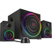 Zvučnik GRAVITY CARBON RGB 2.1 Subwoofer System, Speedlink, crni