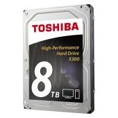 HDD desktop Toshiba X300 (3.5'' 8TB, 7200RPM, 128MB, NCQ, AF, SATAIII), bulk