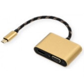 Roline GOLD adapter USB3.1 Type C - VGA/HDMI (M/F)