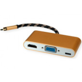 Roline GOLD adapter USB3.1 Type C - VGA/HDMI+1×PD C (M/F)