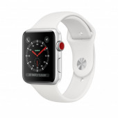 Watch Apple Watch Series 3 GPS 42mm Silver Aluminium Case with Sport Band - White DE