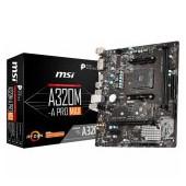 MSI Main Board Desktop A320 (SAM4, 2xDDR4, PCI-Ex16, PCI-Ex1, USB3.2, USB2.0, SATA III, M.2, HDMI, D