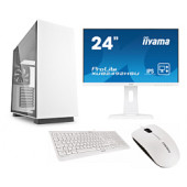 "Cratos Office White MT 400W, Intel  i3-8100, 8GB DDR4, 240GB SSD, Intel UHD, FreeDos + tipkovnica/miš + 24"" Iiyama Monit"
