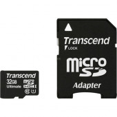 Transcend microSDHC Card 32GB Ultra  (Black, Class 10)