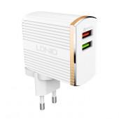 Komplet adapter LDNIO A2502Q 220v 2x USB 1x QC 3.0 1x 2,4A + lightning kabel